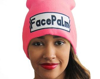 Epic Fail, Facepalm, Fail, Epic Fail Hat, Slang Beanies® Dye Sublimated Ribbed Comfort Knit Hats 10+ Colors