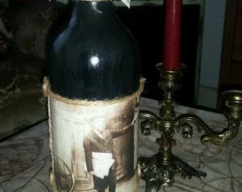 Shabby chic decorative bottle