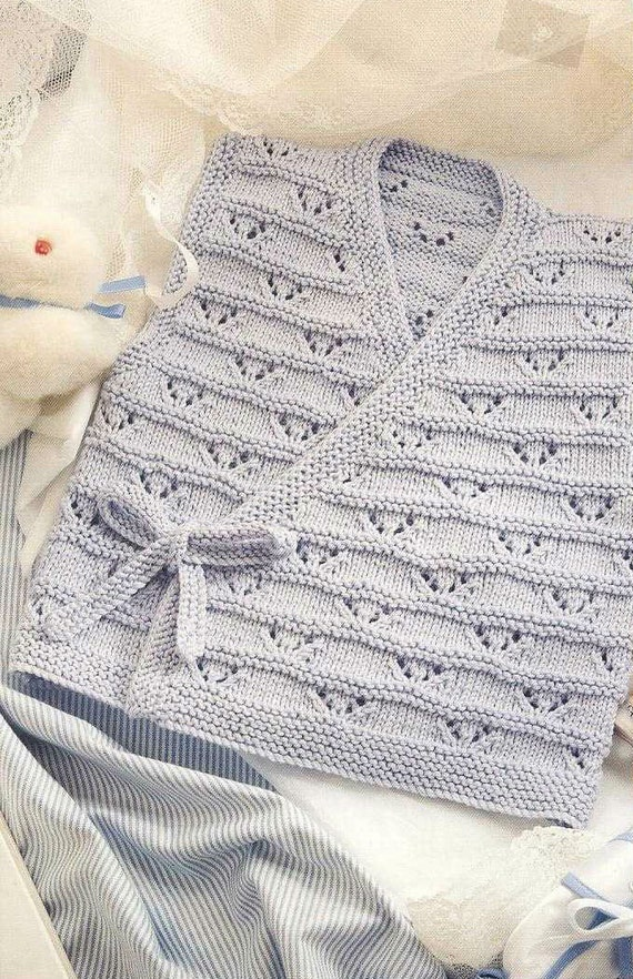 Items similar to Knit Baby Vest Vintage Knitting Pattern 12-18 inch chest Sle...