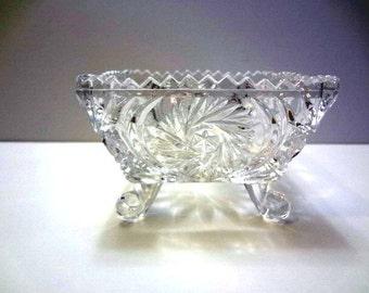 Square crystal bowl