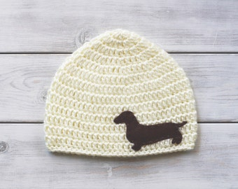 Crochet Dachshund (Doxie) Hat