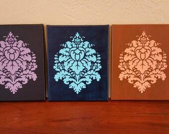 Set of 3 Canvas Wall Art