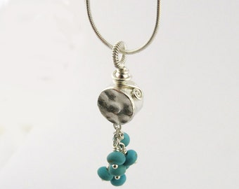 Chakra Necklace Turquoise Necklace Sterling Silver Chakra Jewelry