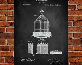 Birdcage Art Print, Birdcage Patent, Birdcage Vintage,Birdcage Blueprint, Birdcage Print, BirdcagePrints, Birdcage Wall Art, Birdcage Decor