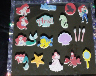 Little Mermaid, cupcake toppers, cake pop toppers