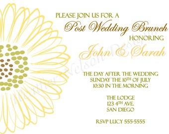 Sunflower Post Wedding Brunch Invitation