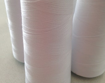 Birch White Polyester Overlocking Thread Value Bunch