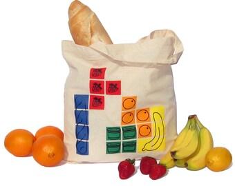 Tetris Tote Reusable Grocery Bag