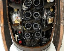Wine Barrel Whiskey Barrel Liquor Cabinet Custom Rack