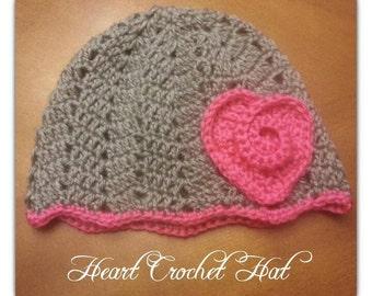 Heart Crochet Hat