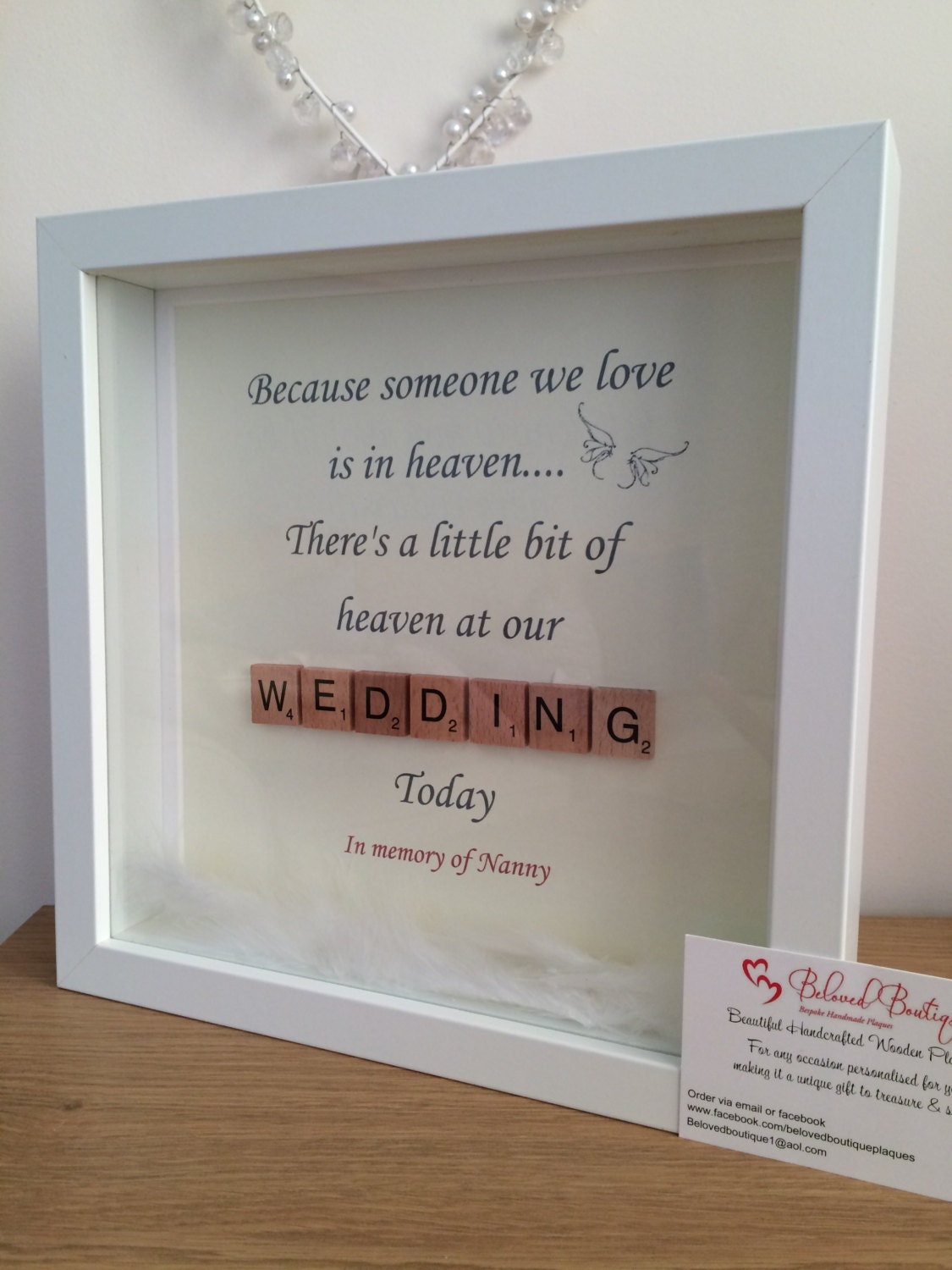 personalised scrabble memory frame zoom
