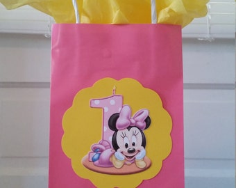 Minnie First Birthday Bags