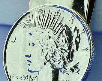 1923 Peace US Silver Dollar Coin Money Clip