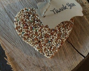 50 Heart Bird Seed Favors