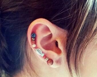 Beaded Copper Ear Cuff