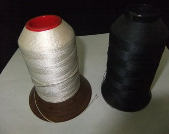 2 Vintage Spools of Nylon Line, for Fishing or Archery