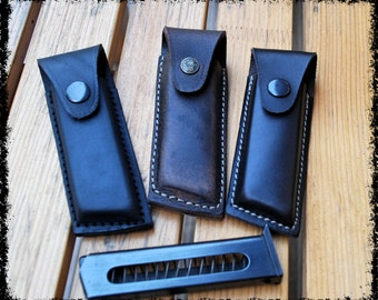 Leather Case, Magazine Pouch, Leather Automatic Pistol Magazine Carrier/Pouch with Belt Loop