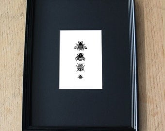 Lacy Insect Print Artworks