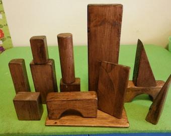 Large Wooden Play Blocks - 150