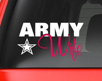 Army Wife (M32) Vinyl Decal Sticker Car/Truck Laptop/Netbook Window