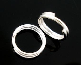 5mm Shiny Silver Plated Split Jump Rings | 100 pcs | JR26