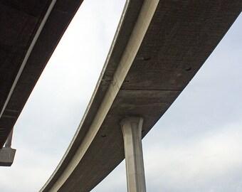 LA Freeways 4, Freeway Split, Los Angeles, Photography, Home Decor