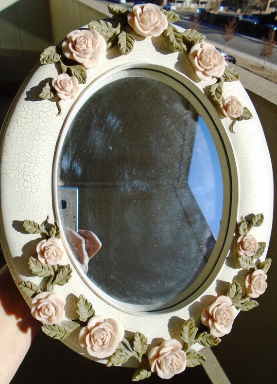 Mirror Rosette Free Standing Decorative Mirror By