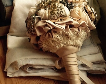 Antique Gold Brooch Bouquet