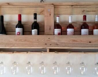 Items similar to recyclage palettes bois casier vin avec for Lle de bain