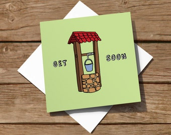 FREE delivery – Humorous hand-illustrated get well soon card