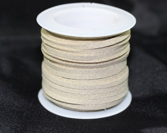Beige Faux Suede Cord, 5mt/ 10mt/ 20mt/ 50m Faux Suede Cord, Jewelry Cord for Jewelry Accessories