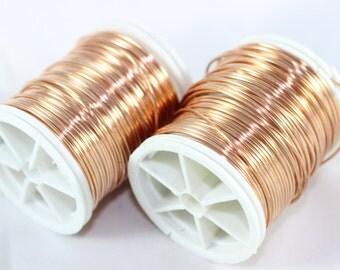 Artistic Copper Wire 22 Gauge (0.6 mm) 60 Feet 18 meters, Craft Wire, Craft Wire, Jewelry wire, 60 Feet Artisan Wire Wrap