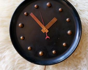 Vintage Black Wall Clock