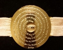 Pulsera de Padre Nuestro gold plated