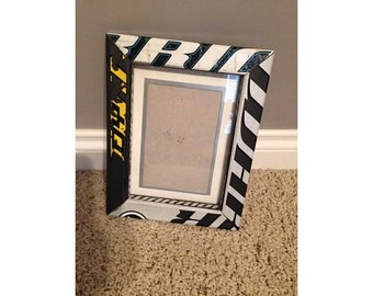 Hockey Stick Picture Frame 4x6 with Matting