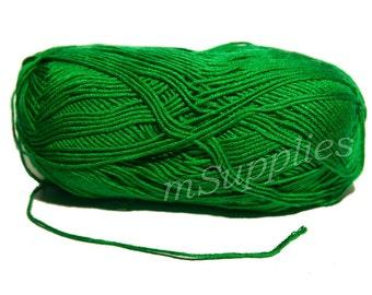 Deep Green Acrylic 100% Yarn 100g