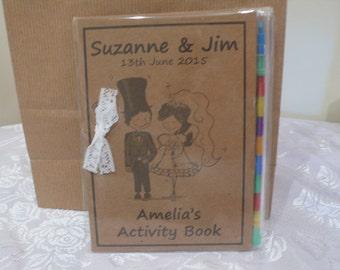 Vintage children's wedding activity book