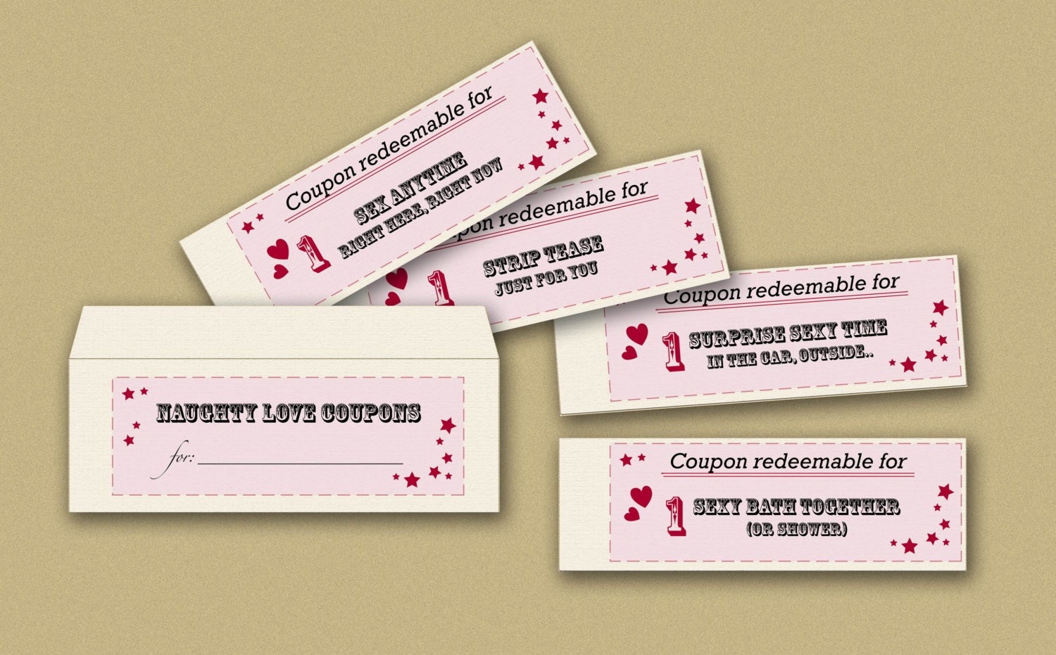 printable naughty love coupons book blank envelope 🔎zoom