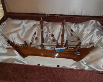 17th Century Sailing Ship in Presentation Box