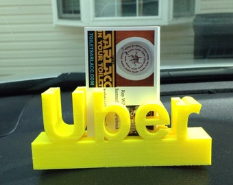 Uber dash sign/card holder