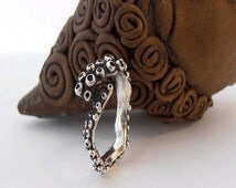 Nautical Jewelry .Silver Octopus Ring . Delicate and Fine Silver Octopus Ring. Beach jewelry. Rings, Silver .Made in israel jewelry.