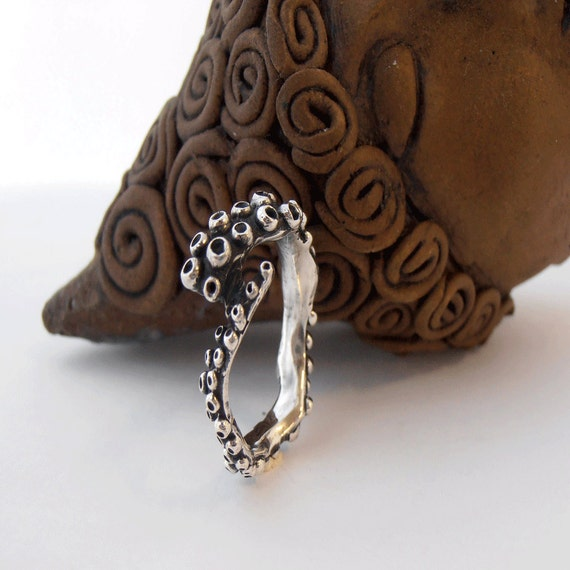 nautical jewelry silver octopus ring surfer by
