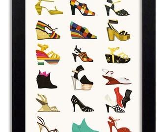Salvatore Ferragamo - Fashion Illustration Print Fashion Print Fashion Art Fashion Wall Art Fashion Poster Fashion Sketch Art Print