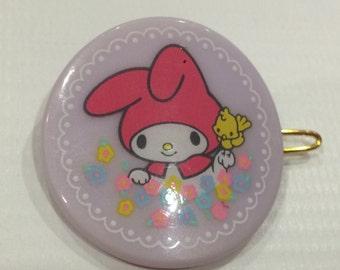 Vintage My Melody Sanrio hair pin made in Japan 1983