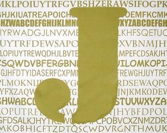 "Olive ""J"" Fabric Panel"