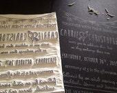 Custom Wedding Invitation Stamp, personalized hand carved wedding stamp, custom stamp, custom rubber stamp