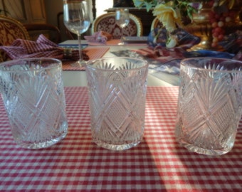 THREE OLD FASHIONED Glasses