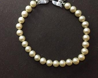 Trifari faux pearl bracelet