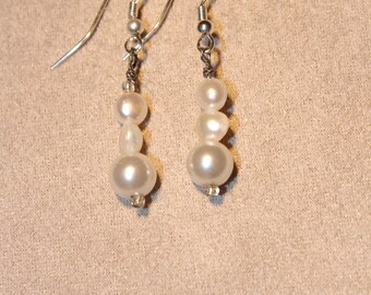 Earrings - Cultured pearl and pearl bead