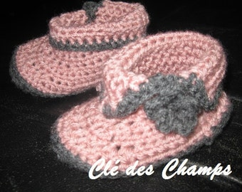 slippers crochet for baby, boy and girl